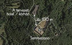 Sammezzano műholdképen