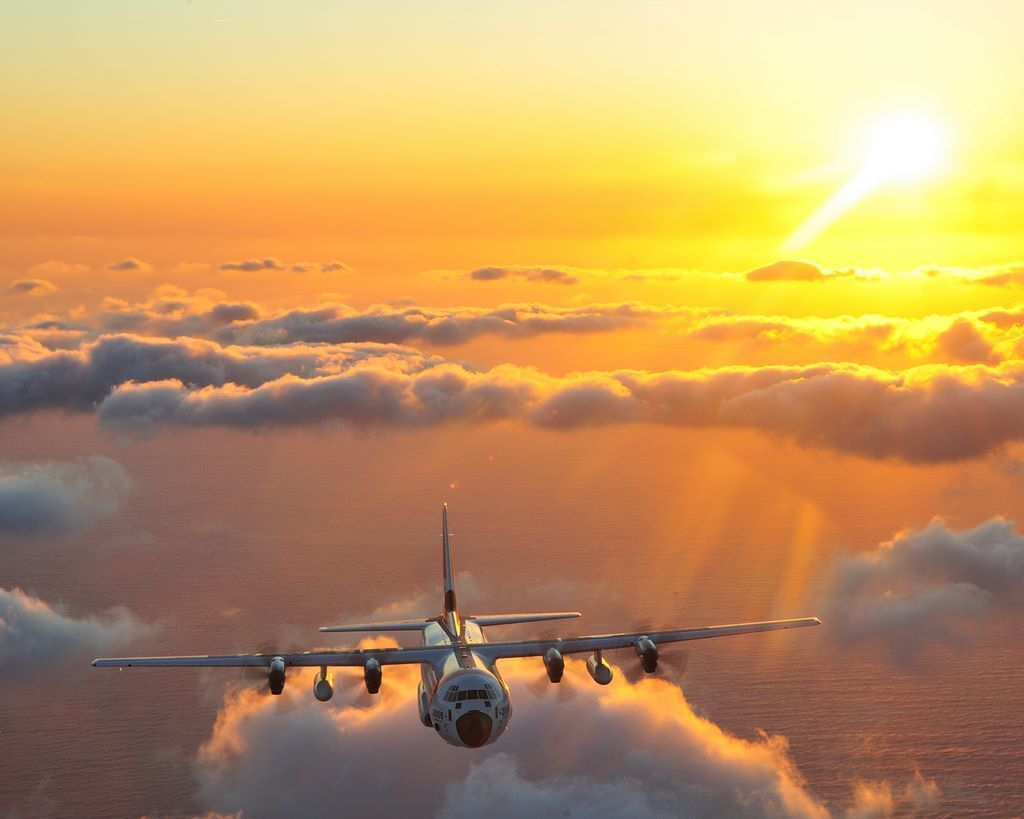 C-130 in flight